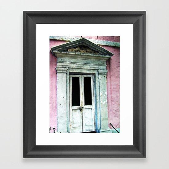 Bahama Door Framed Art Print