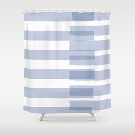 Big Stripes in Light Blue Shower Curtain