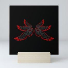 Black Red Archangel Wings Mini Art Print