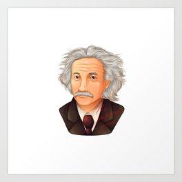 My preferred Genius,  a illustration of the biggest physicist  Albert Einstein. Art Print