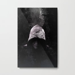 Victorian Assassin Hood - Color Metal Print