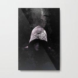Victorian Assassin Hood - Color Metal Print