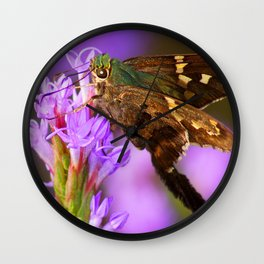 Flashy Long-Tailed Skipper Wall Clock
