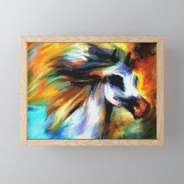 Rainbow Horse Framed Mini Art Print
