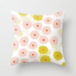 Olivia, flower child Throw Pillow