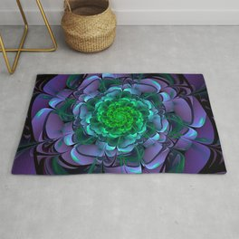 Beautiful Purple & Green Aeonium Arboreum Zwartkop Rug