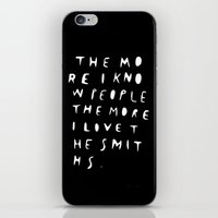 the smiths iPhone & iPod Skins featuring THE MORE I KNOW PEOPLE by WASTED RITA