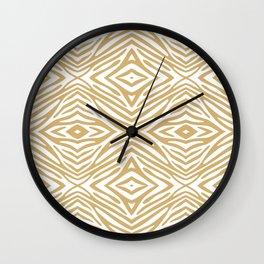 Putty Neutral Zebra Wall Clock