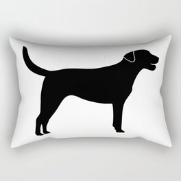 Black Labrador Retriever Silhouette Rectangular Pillow