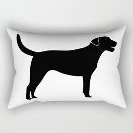 Black Labrador Retriever Silhouette #society6 #decor #buyart #artprint Rectangular Pillow