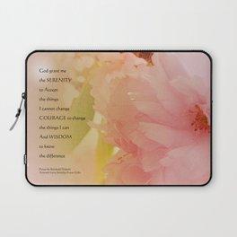 Serenity Prayer Cherry Blossoms  Laptop Sleeve