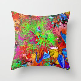 """ Kiwi Lifestyle"" - Pohutukawa NZ Bloom- Pop ART Throw Pillow"