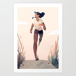 Runner Girl Art Print