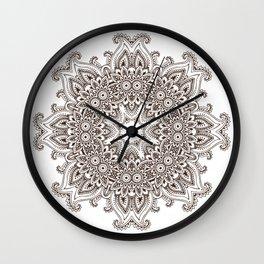 Mandala Bohemian Embellishments Medallion Wall Clock