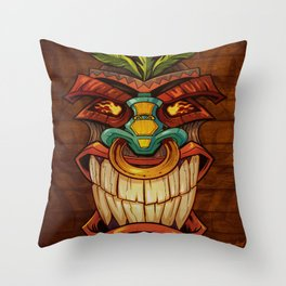 Tiki Head Style 1 Throw Pillow