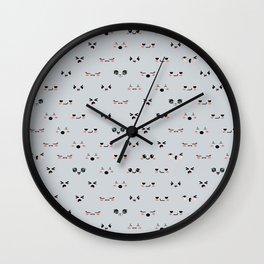 Cute faces 2 Wall Clock