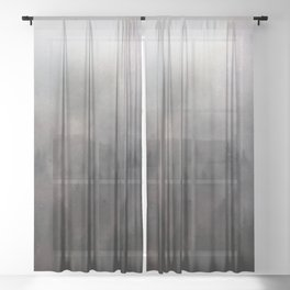 Yellowstone Forest Fog Sheer Curtain