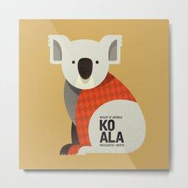 Hello Koala Metal Print