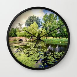 Lily Pond of England Wall Clock