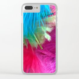 Flamboyant Feathers Clear iPhone Case