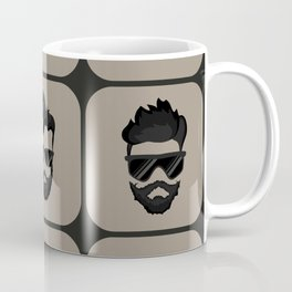 mustache, beard and hairstyle hipster Coffee Mug
