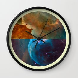 Abstract Life Evolved Wall Clock