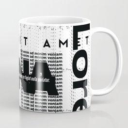 Lorem Ipsum Inverted Coffee Mug