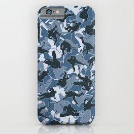 Ice Hockey Player Camo URBAN BLUE iPhone Case