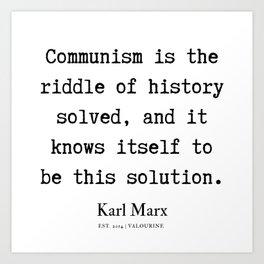 15  | Karl Marx Quotes | 190817 Art Print