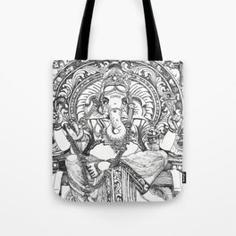 Genish black and white line drawing Tote Bag