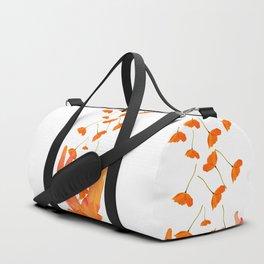 Wonderful Poppy Flowers Orange Coral Color White Background #decor #sociey6 #buyart Duffle Bag