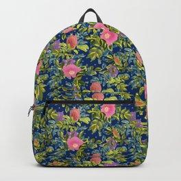 retro, shirovnik, roses retro Backpack
