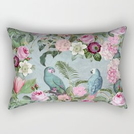 Parrots Jungle Rendevous Rectangular Pillow