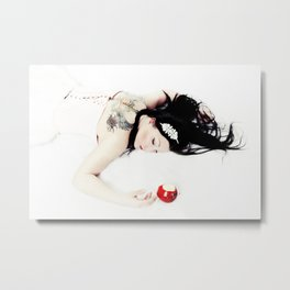 Hard Core SnoWhite Metal Print