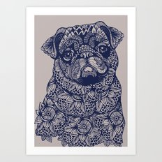 MANDALA OF PUG Art Print