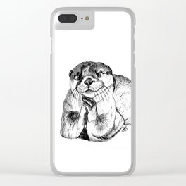 Otterly adorable Clear iPhone Case