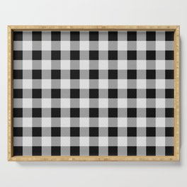 TARTAN GINGHAM CHECKERED GREY / BLACK Serving Tray