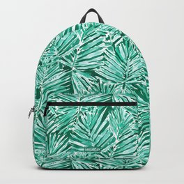 ON VACAY Green Palm Leaves Backpack