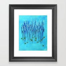:: Blue Martini :: Framed Art Print