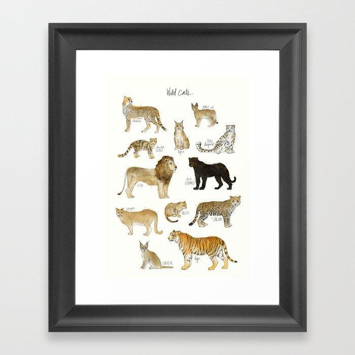 Wild Cats Gerahmter Kunstdruck