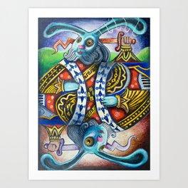 Rabbit: A Full House Divided Art Print