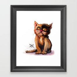 Gimme' Kitty Framed Art Print