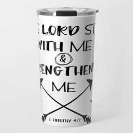Strength Bible Verse Typography Travel Mug