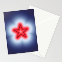 Red White and Blue Star Stationery Cards