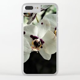 Morning White Orchids Clear iPhone Case