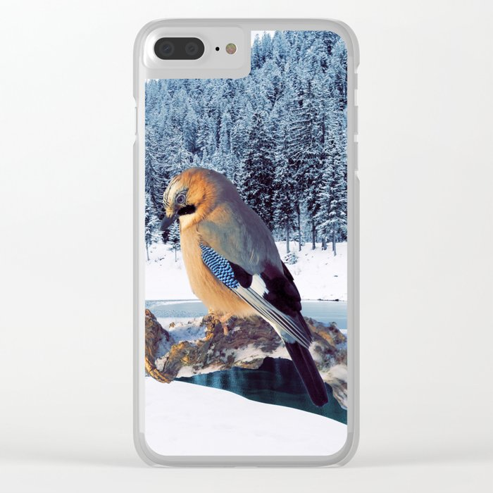 Winter Moments Clear iPhone Case