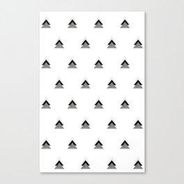 Arrows Collages Monochrome Pattern Canvas Print