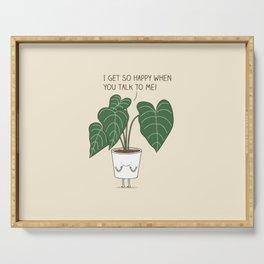 Plant talk Serving Tray