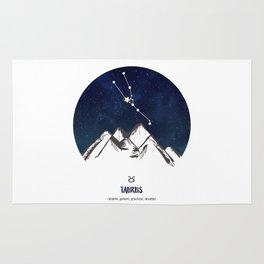 Astrology Taurus Zodiac Horoscope Constellation Star Sign Watercolor Poster Wall Art Rug