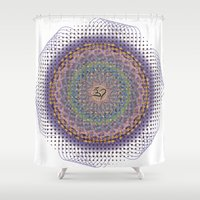 ohm Shower Curtains featuring Ohm Mandala by SRC Creations